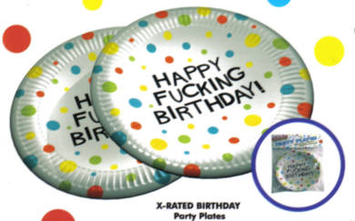 Happy Fucking Birthday Plates