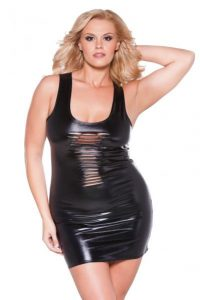 Kitten Risque Dress Black Queen