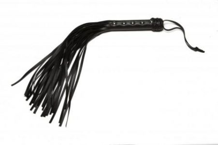 X Play Black Riveted Flogger
