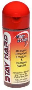 Body Action Stay Hard Lubricant 2.3oz