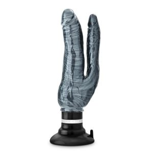 Jet Deux Noir Carbon Metallic Double Penetration Vibrating Dildo