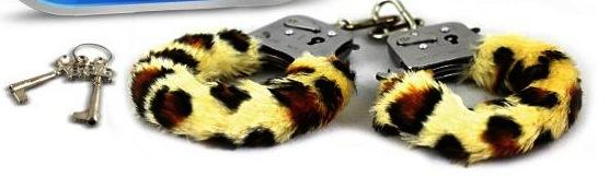 Play Time Fur Cuffs - Leopard Print
