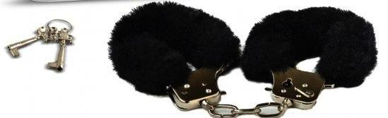 Playtime Cuffs Black Fur