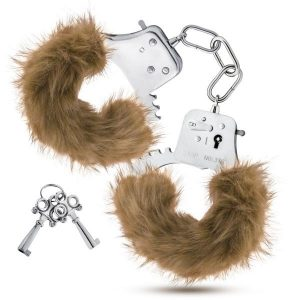 Temptasia Plush Fur Cuffs Brown Handcuffs