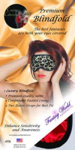 Satin Blindfold Black/Red