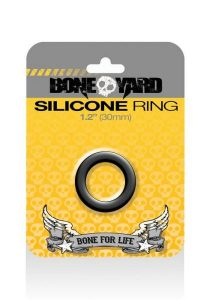 Boneyard Silicone Ring 1.2 inches Black