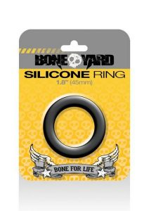 Boneyard Silicone Ring 1.8 inches Black