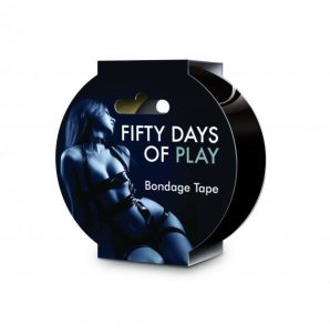 Fifty Days Of Play Bondage Tape Black
