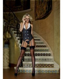 3 pc Working Late Pinstripe Knit Vest Garter
