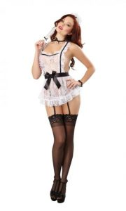 Maid To Tease French Maid Bedroom Costume O/S White