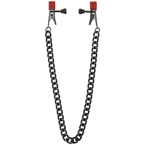 Kink Chain Nipple Clips with Heavy Chain Silicone Tips