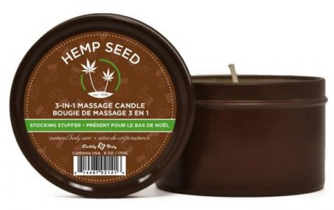 Earthly Body Candle 3 In 1 Stocking Stuffer Chocolate Mint Vanilla