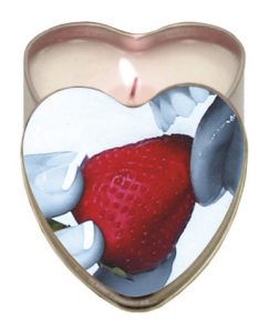 Edible Heart Candle - Strawberry