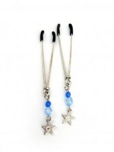 Tweezer W/Beads And Star Charm - Blue