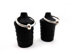 Nipple Suckers Silicone Ring Black