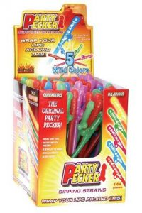 Party Pecker Sipping Straws 144 Pieces Display