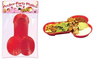 Party Pecker Platter Red