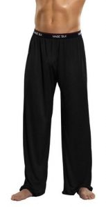 Pants Knit Silk Black