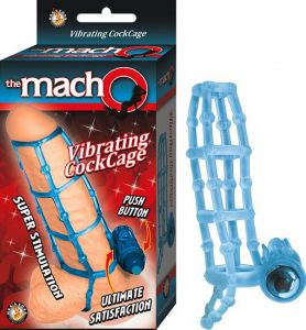 Macho Vibrating Cockcage Blue