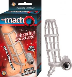 Macho Vibrating Cockcage Clear