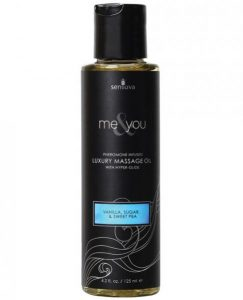 Me & You Massage Oil Vanilla Sugar Sweet Pea 4.2oz
