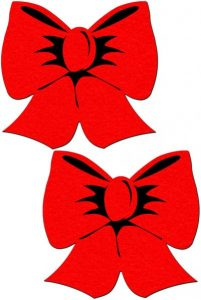 Pastease Bright Red Bow Pasties O/S