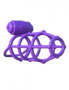 Fantasy C-Ringz Climax Cage Purple