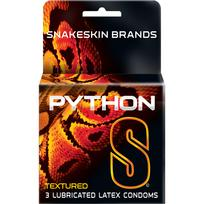 Python S Textured 3 Pack Latex Condoms