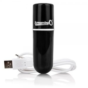 Screaming O Charged Vooom Rechargeable Bullet Vibe Black