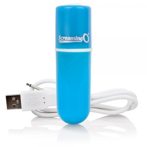 Screaming O Charged Vooom Rechargeable Bullet Vibe Blue