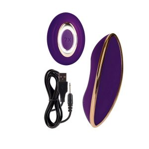 Juliette Wireless Remote Control Silicone Rechargeable Panty Massager - Purple