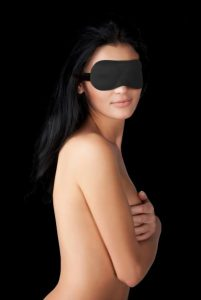 Ouch Curvy Eyemask Black Blindfold O/S