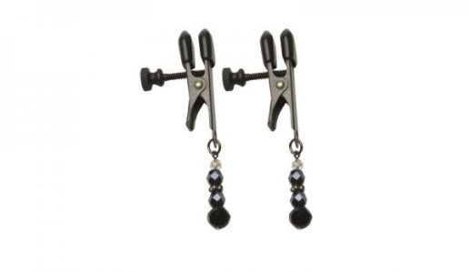 Black Beaded Clamps - Adjustable Broad Tip