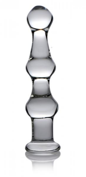 Mammoth 3 Bumps Glass Dildo Clear