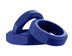 Tom Of Finland 3 Piece Cock Ring Set Silicone Blue
